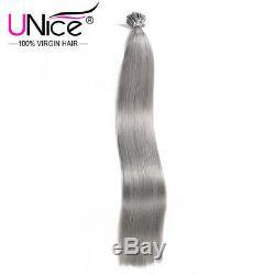 UNice Brazilian 100S Pre Bonded Keratin I-tip Human Hair Extensions Straight #80