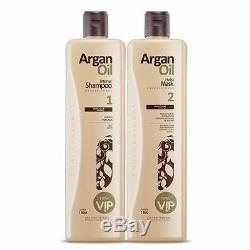 Vip Brazilian Keratin Hair Treatment Blow Dry 2 Liter Kit Argan Oil Ojon Mask