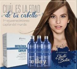 Ybera Keratin Brazilian Botulinum Rejuvenation kit 3x1L Hair Treatment Smoothing