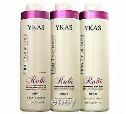 Ykas Liss Treatment Rubi Brazilian Keratin 3x 1L 33.8 fl oz
