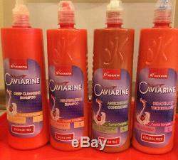 100% Authentique Cheveux Lissage Brésilien Caviarine Traitement Usage Domestique Jusqu'à 6 Mois
