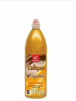 100% Authentique Lissage Brésilien Cheveux Collagène Traitement Krystal Jusqu'à 8 Mois