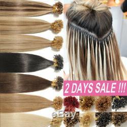100% Remy Hair Extensions Par Human Kératine Nail U Tip MIX Blonde Longue MX