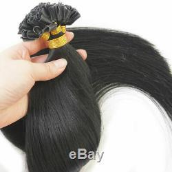 100s 0,7 / Du Corps Brésilien Onduleux Remy Cheveux Humains Kératine Nail U Tip Hair Extension
