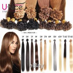 100s Pre Bonded Fusion Kératine Nail U Tip Extensions De Cheveux Humains 50 G / 100 G 1 Paquet