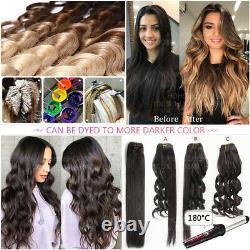 16-24 Thck Pre Bonded Keratin Nail U Conseil 100% Remy Extensions De Cheveux Humains Ombre