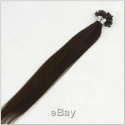 1 Gramme Extension Naturelle De Cheveux Humains Longue Pré Collée Colle Kératine Pointe De Remy U