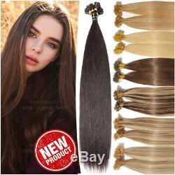 200s / 200g Fushion Pre Bonded 100% Remy Hair Extensions U Human-nail Tip Kératine