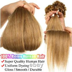 200strands Fusion Keratin Pre Bonded Real Remy Cheveux Humains U Conseils Extensions De Ongles