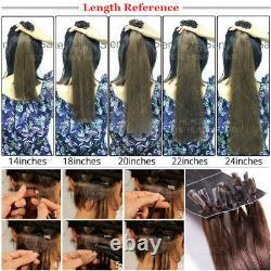300s Fusion Pré Bondé Kératine Ongles U-tip 100% Remy Extensions De Cheveux Humains Blonde