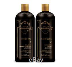 (84,50 / L) Inoar G Marocain Cheveux Brésilien Kératine 2 X 1 L & Shampoing Kératine