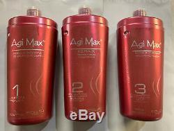 Agi Max Brésilien Kératine Du Traitement Kit 1 Litre 3 Étapes 3 X-x 1000ml Kera
