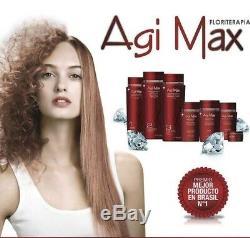 Agi Max - Kit De Lissage Des Cheveux À La Kératine Brésilienne - 1 Lt - 3 Étapes X 1000 ML - En Solde
