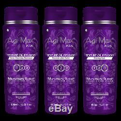 Agi Max Plus Huile De Murumuru Brésilienne - Kit De Lissage Des Cheveux, 3 Étapes / 500 ML