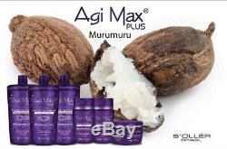 Agi Max Plus Nouveau Kit Cheveux / Lissage Kératine Brésilien 1 Lt 3 Étapes X 1000ml