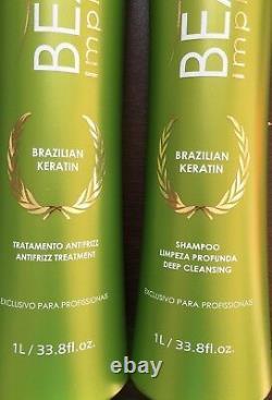 Beauté Impressionnant Kératin Brésilien Traitement Blowout 2 X 33.8oz Formol Gratuit