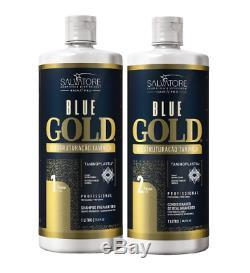 Blue Gold Salvatore Kératine Du Traitement Brésilien Blowout 2x1l Salvatore