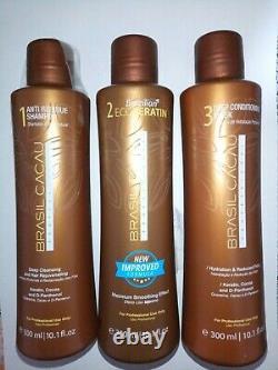 Brasil Cacau Pro Brésilien Ecokeratin Kit Cheveux Smoother Treatment=900ml/ 30.3oz