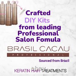 Brasil Cacau Traitement Professionnel Kératin Brésilien Diy 50ml Kit X 2
