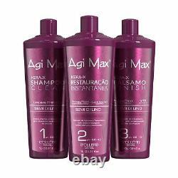 Brazilian Natural Keratin Hair Treatment Kit Efficace Qualité Premium Sûr