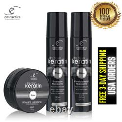 Brésilien Keratin Deluxe Ecosmetics Traitement Progressif 1l + Kit D'entretien