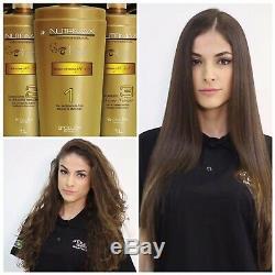 Brésilien Kératine Agi Max Nutrimax Blowout Traitement Des Cheveux Kit 3x1l Stra