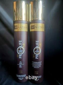 Brésilien Pro Life Nanofix Cheveux Traitement De Brosse Progressive 2x1l Zap Cosmetics