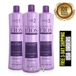 Cadiveu Plastica Dos Fios Lifterener Brésilien Keratin Traitement Des Cheveux 3x 1l