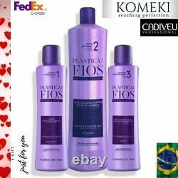 Cadiveu Plastica Dos Fios Straightener Brazilian Keratin Treatment 33oz+2 (10oz)