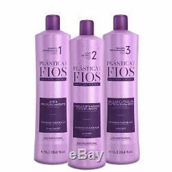 Cadiveu Plastica Dos Fios Traitement Cheveux Kit Brésilien Kératine Box 3x1l 34 Oz