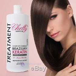 Chelly Cheveux Relaxer Kératine Traitement Brésilien Chocolate 32 Fl Oz