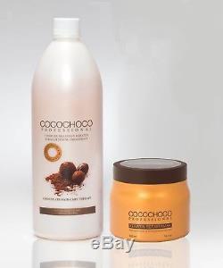 Cocochoco Complexe Traitement À La Kératine Brésilienne 1000 ML + Masque Capillaire Gratuit 500 ML