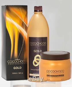Cocochoco Complexe Traitement À La Kératine Brésilienne Gold 1000ml + Gratuit