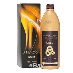Cocochoco Gold Traitement Brésilien Pour Cheveux À La Kératine 34 Oz / 1 000 ML Sans Priorité