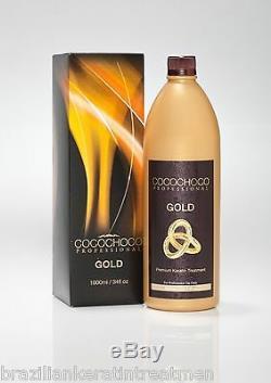 Cocochoco Gold Traitement De Lissage À La Kératine Pour Les Cheveux Au Sèche-cheveux Brésilien 1000 ML