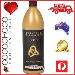 Cocochoco Pro Gold Brésilien Kératine Cheveux Traitement Salon Droit 1000ml 1l
