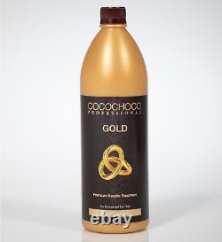 Cocochoco Pro Gold Kératin Brésilien Traitement De Salon Droit 1000ml 1l