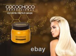 Cocochoco Pro Gold Keratin Traitement Capillaire Brésilien 250ml + Masque Repair 500ml
