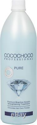 Cocochoco Pro Gold + Pure Kératine Brésilienne Droite 2x1000ml Traitement Des Cheveux