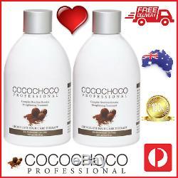 Cocochoco Pro Original Brésilien Kératine Droite Traitement Hair Salon 500 ML