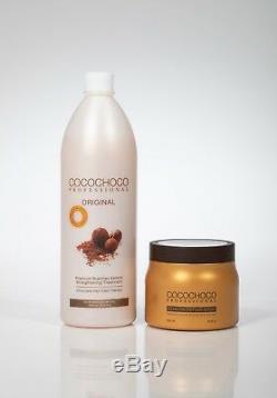Cocochoco Traitement Brésilien À La Kératine 34oz + Masque Réparateur Pour Les Cheveux À La Kératine 17oz