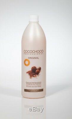 Cocochoco Traitement Brésilien Pour Cheveux À La Kératine 1000 ML + Shampooing Au Sulfate Libre 400 ML