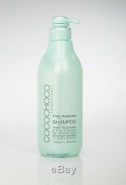Cocochoco Traitement Brésilien Pour Cheveux À La Kératine 1l + Shampooing Sans Sulfate Ni Sls 1l