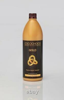 Cocochoco Traitement De Redressage Des Cheveux Kératine Brésilien Doré 1000ml Aus