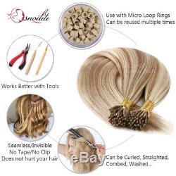 Dégagement I-tip Bâton De Colle Pré-kératine 100% Liés Remy Hair Extensions 1g Humaine