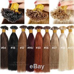 Dégagement Kératine Précollé U Pointe Nail Real Remy Hair Extensions 200pcs Humain U