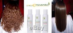 Ensemble De Traitement Pour Le Lissage Des Cheveux À La Kératine Brésilienne Encanto Do Brasil (3 Tailles)