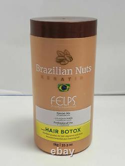 Felps Noix Brésiliennes Keratin Hair Botox Huiles Spéciales 35.3 Oz Utilisation Professionnelle