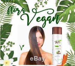 Flora Vegan Lissage Brésilien Kératine Traitement 1000ml Floractive Professionnel