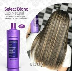 Floractive Keratin Brésilien Prohall Select Blond 1l Traitement De Réduction De Volume